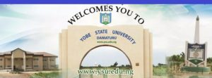 Yobe State University (YSU) cut off mark