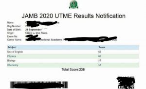 Jamb Result Check UTME Results via Online and SMS