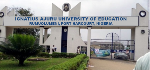 Ignatius Ajuru University of Education, Rumuolumeni IAUE Acceptance Fee Payment Procedure for 2020