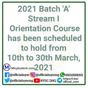 NYSC Orientation Course
